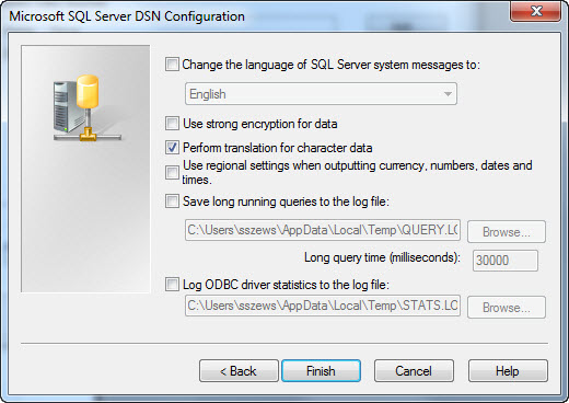 Establishing Connectivity: SQL Server ODBC (Windows) - SAP