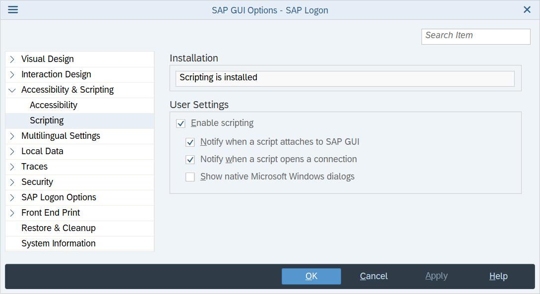 Scripting - SAP Help Portal