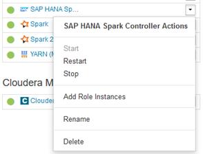 Uninstall from Cloudera Manager - SAP Help Portal