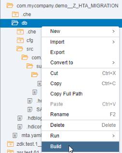 Tutorial: Migrating SAP HANA Repository-based Developments