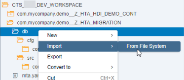 Tutorial: Migrating SAP HANA Repository-based Developments