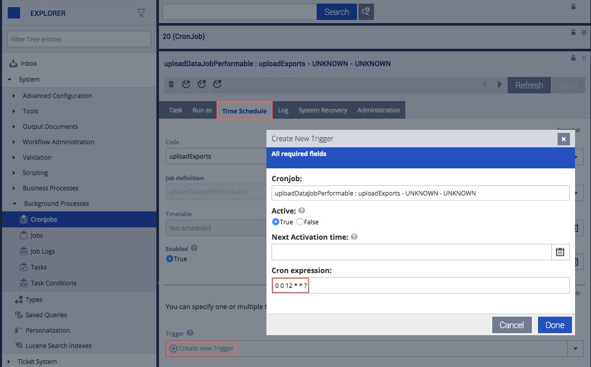 The cronjob Service - SAP Help Portal