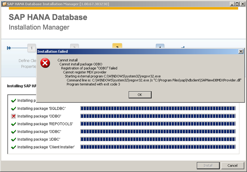 Installing SAP HANA ODBC Driver on Windows 32 Bits XP - SAP Help Portal