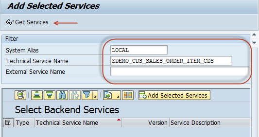 Activate OData Service in the SAP Gateway Hub