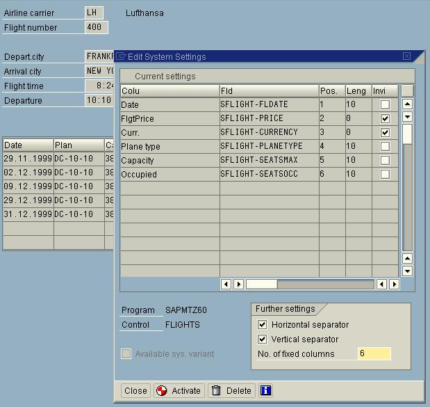 Table controls anpassen for Tabelle 7 spalten
