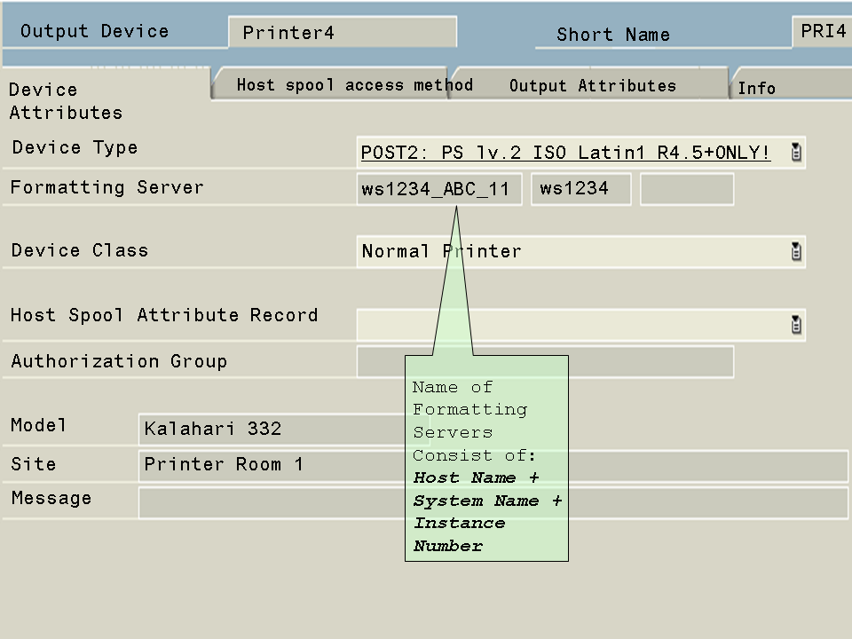 Defining Output Devices for Remote UNIX Printing Locate this