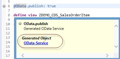 Test the Activated OData Service
