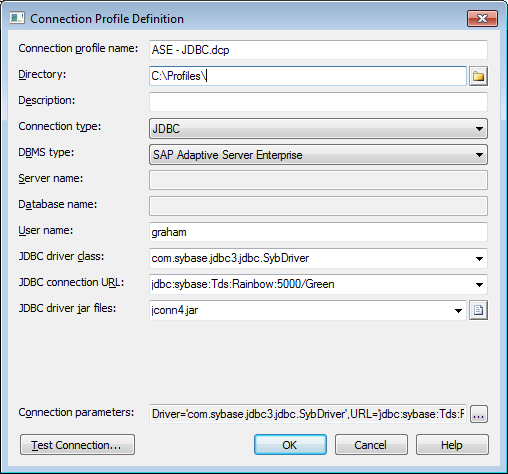 Configuring Connection Profiles