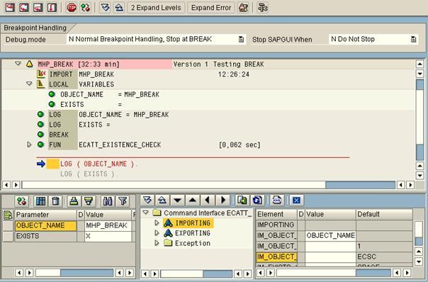 eCATT Debugger (SAP Library - Test and Analysis Tools in ABAP)
