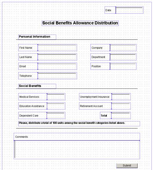 Personal information form template download