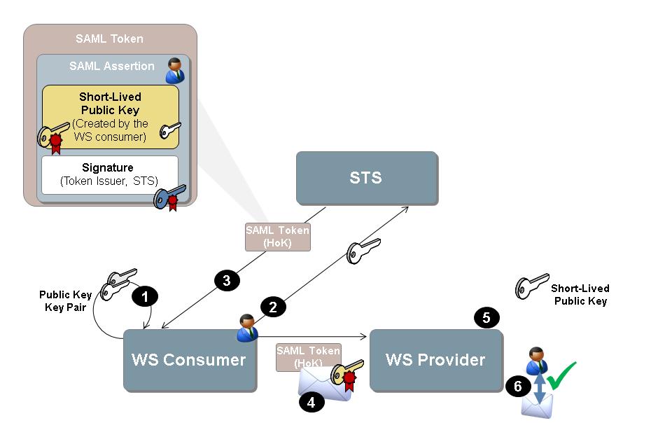 STS Scenario with Asymmetric WS Consumer Key for Endorsing