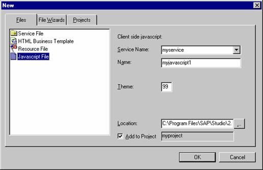 Client-seitige JavaScript-Dateien manuell anlegen (SAP-Bibliothek ...