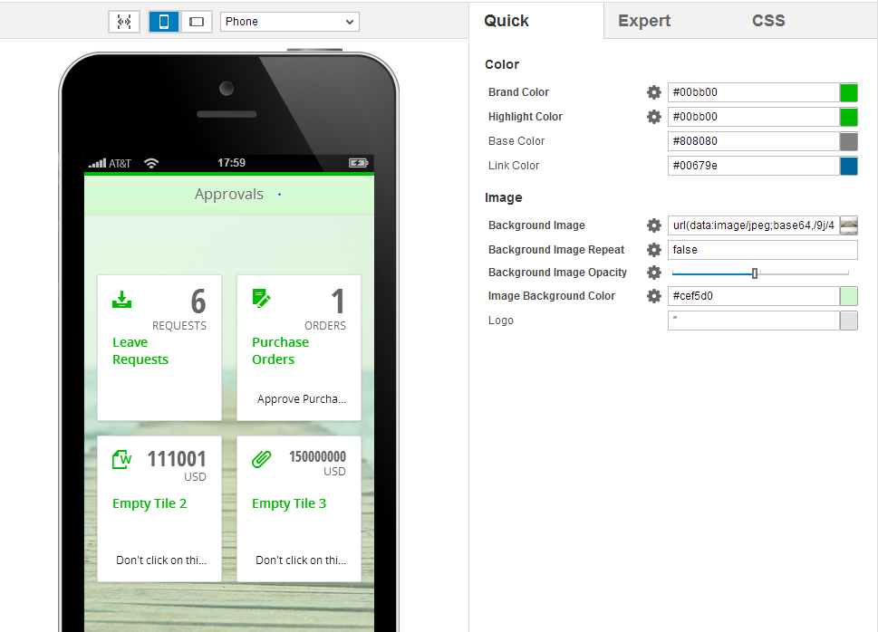 Creating a Theme for SAPUI5 Mobile Applications